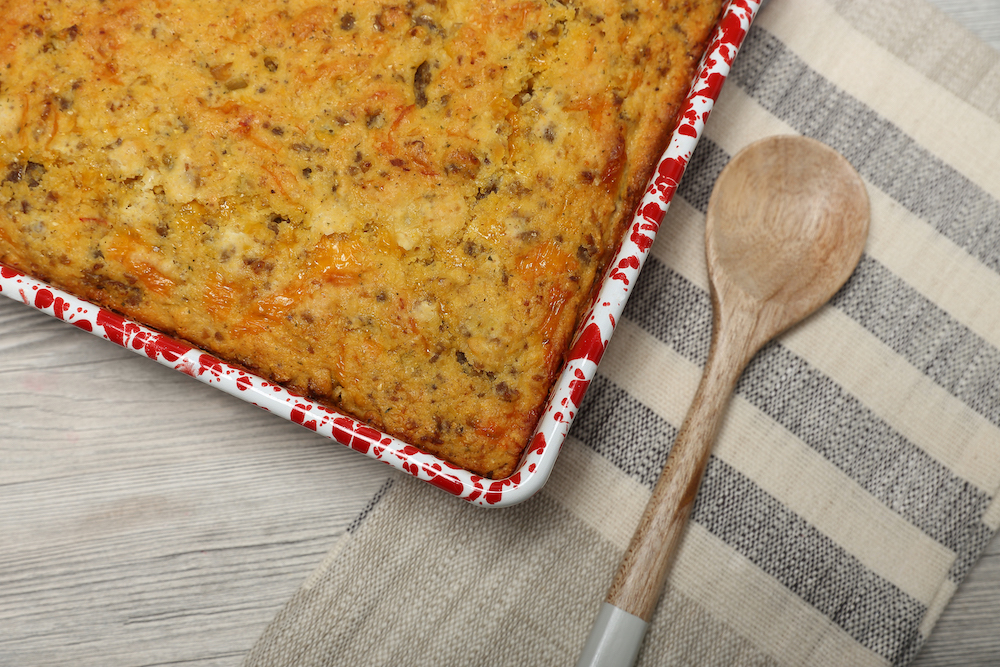 Goolsby's Sausage and Green Chile Cornbread